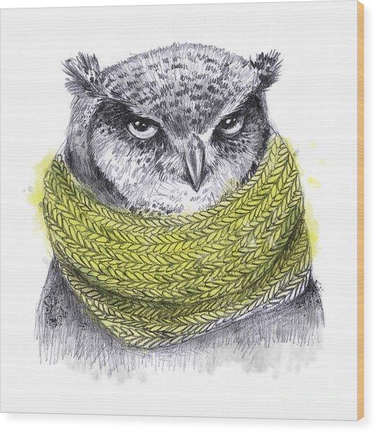 Hand Drawn Pencil Animal Illustration Wood Print