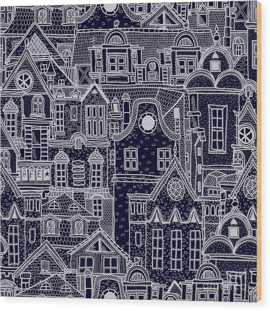 Hand-drawn Seamless Pattern With Old Wood Print