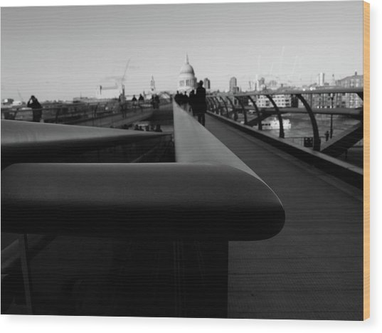Wood Print featuring the photograph Handrail by Edward Lee