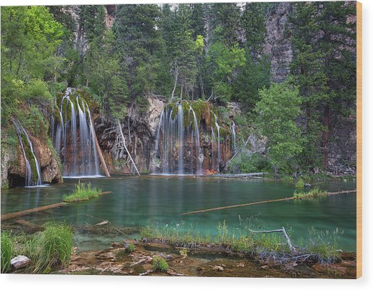Hanging Lake Colorado Wood Print
