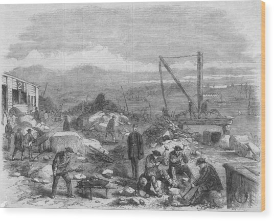 Hard Labour Wood Print by Hulton Archive