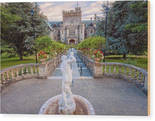 Hatley Castle Wood Print