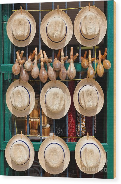 Hats, Musical Instruments,religious Wood Print