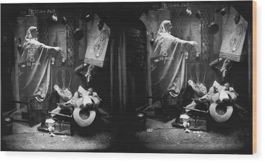 Haunted House Wood Print by London Stereoscopic Company