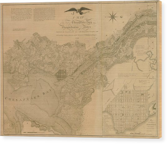 Havre De Grace, Susquehanna River And Wood Print by Historic Map Works Llc