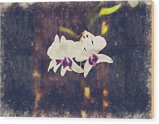 Hawaiian Tree Orchid Wood Print