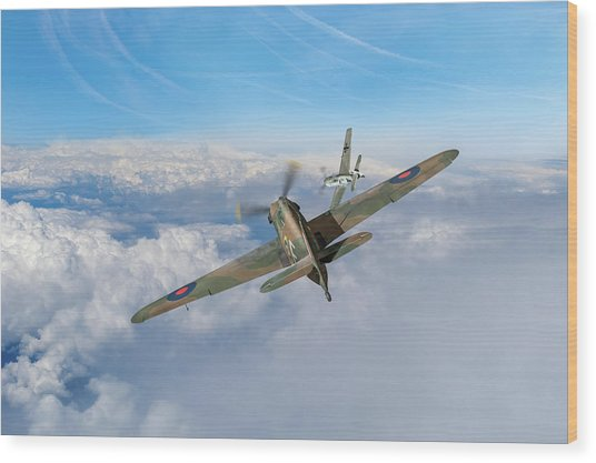 Wood Print featuring the photograph Hawker Hurricane Deflection Shot by Gary Eason