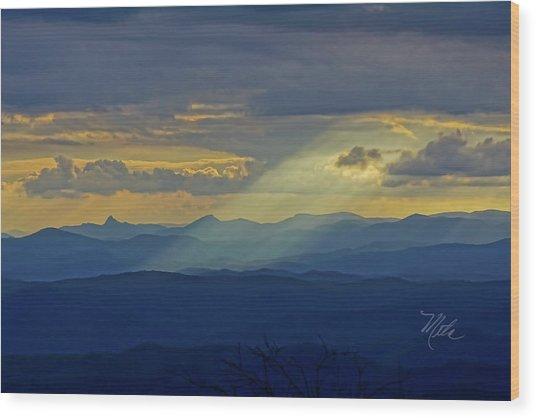Hawks Bill Mountain Sunset Wood Print