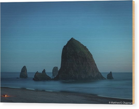 Wood Print featuring the photograph Haystack And Needles by Matthew Chapman