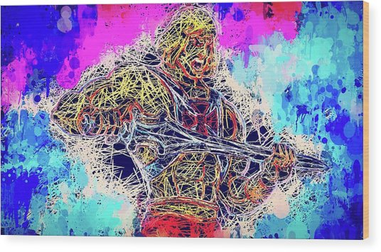 He - Man Wood Print