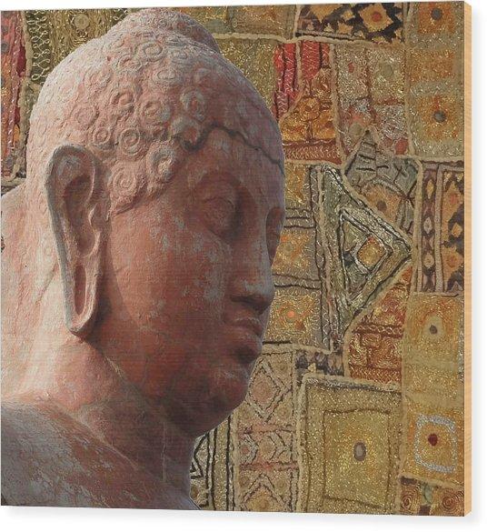 Head Of Buddha,  Wood Print