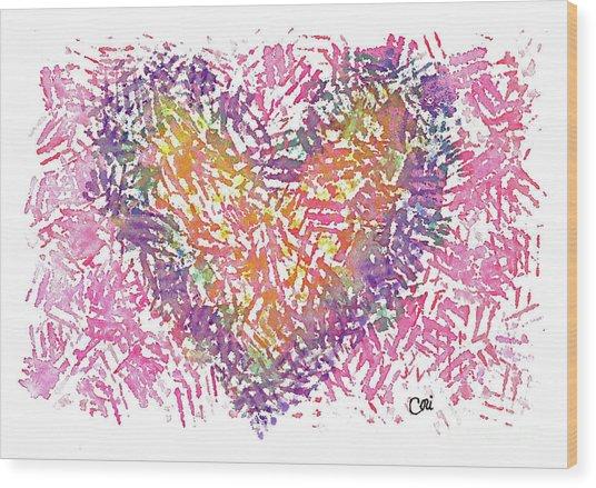 Heart 1006 Wood Print