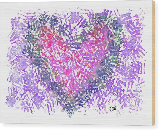 Heart 1007 Wood Print