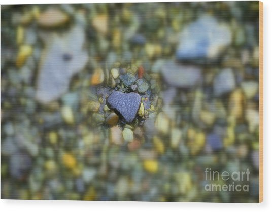 Wood Print featuring the photograph Heart Of Stone Maine by Patti Whitten