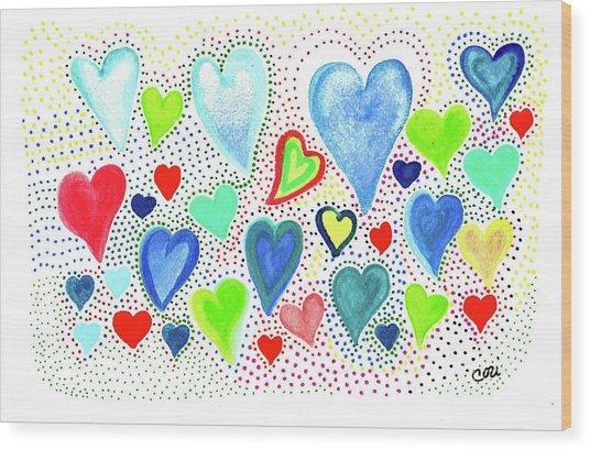 Hearts 1002 Wood Print