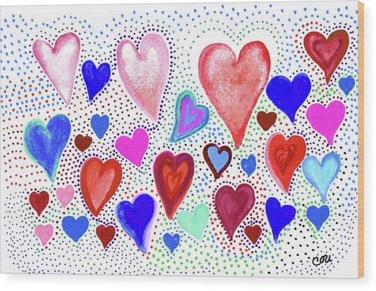 Hearts 1003 Wood Print