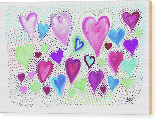 Hearts 1004 Wood Print