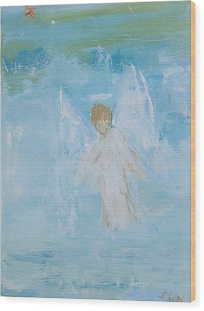 Heavenly Angel Child Wood Print