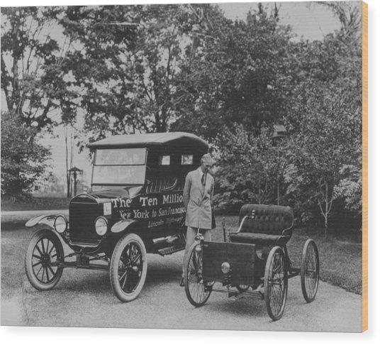 Henry Ford Senior Wood Print