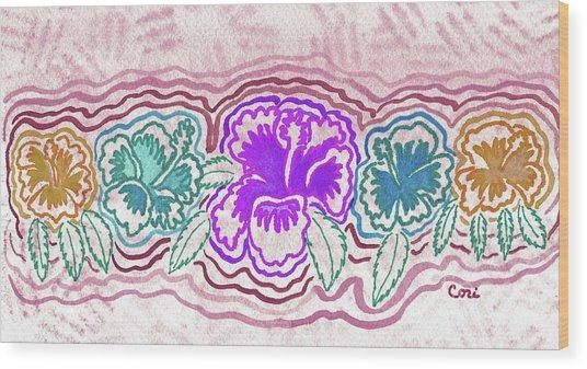 Hibiscus 1003 Wood Print