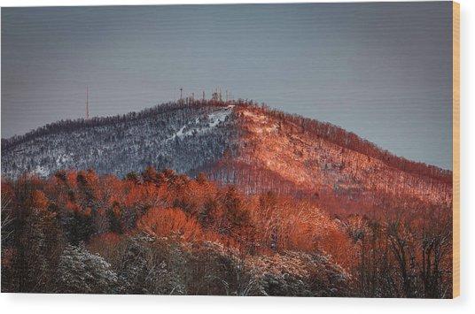 Hibriten Mountain - Lenoir, North Carolina Wood Print