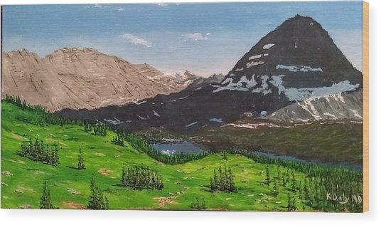 Hidden Lake Pass Wood Print