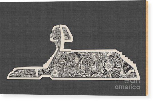 Hidden Technology Inside The Sphinx Wood Print