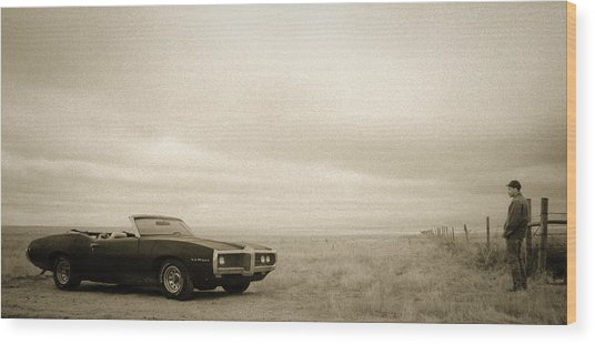 High Plains Drifter Wood Print