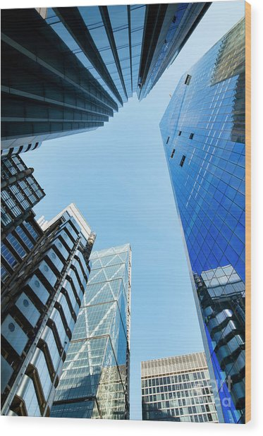 High Rise Wood Print by Tim Gainey
