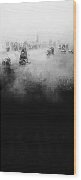 Wood Print featuring the digital art High Society by ISAW Company