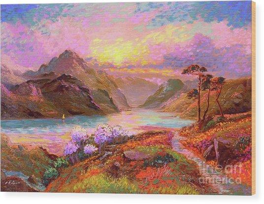 Highland Lake Wood Print