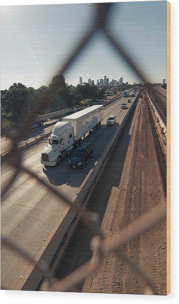 Highway Capture Wood Print
