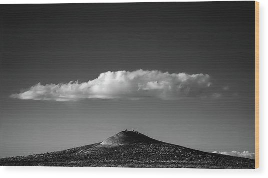 Hill And Cloud Wood Print by Joseph Smith
