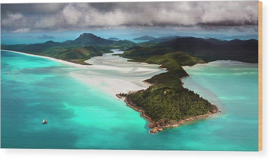 Hill Inlet Wood Print by Bruce Hood