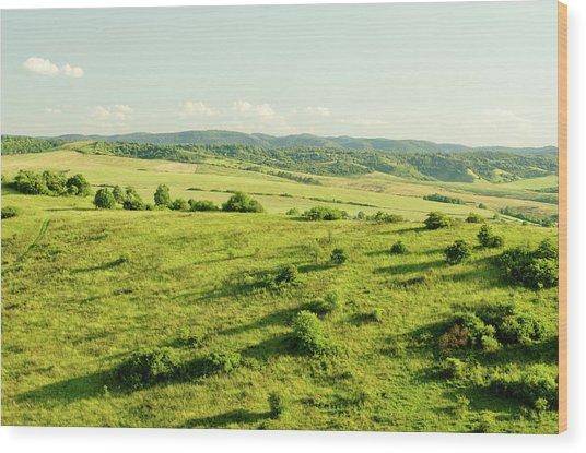 Hill Wood Print by Yorkfoto
