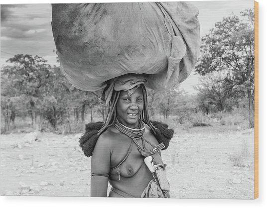 Himba Woman 2 Wood Print