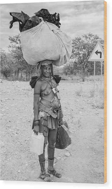 Himba Woman 3 Wood Print