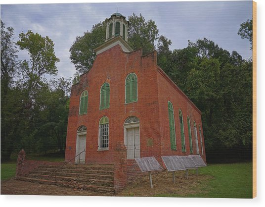 Historic Church Image Wood Print