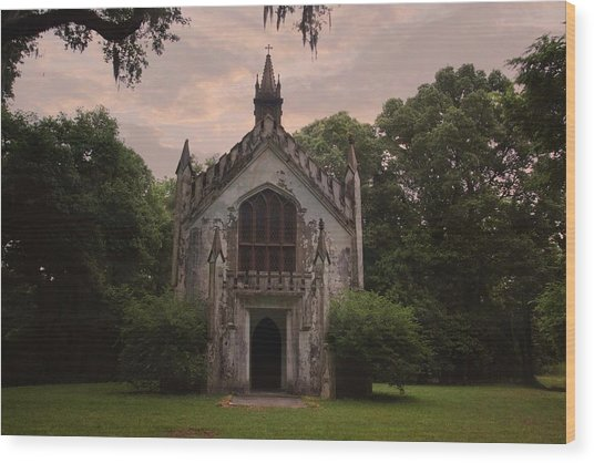 Historic Mississippi Church In The Woods Wood Print