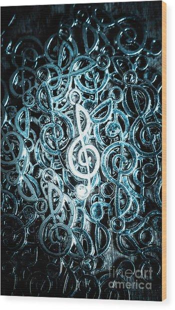 Hitting Key Harmonics  Wood Print