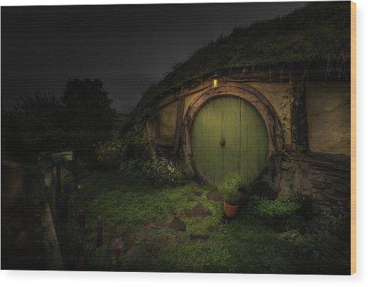 Hobbiton At Night #1 Wood Print