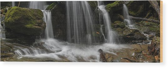 Wood Print featuring the photograph Hogcamp Branch Falls Vi 3x1 by William Dickman