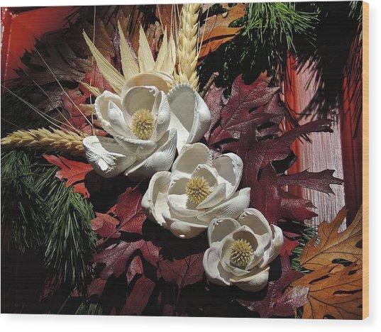 Holiday Shells Wood Print