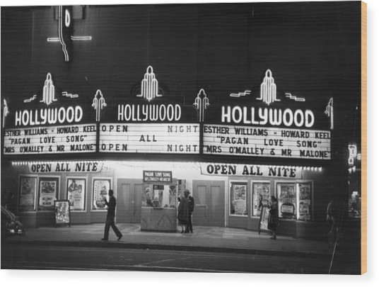Hollywood Cinema Wood Print
