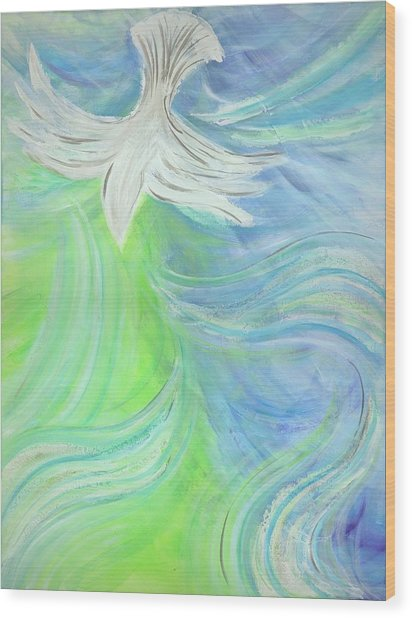 Holy Spirit Outpouring Wood Print