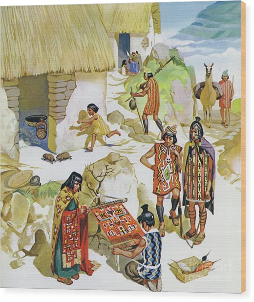 Home In Peru, Circa Ad 100 Wood Print