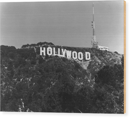 Home Of Hollywood Wood Print
