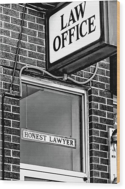 Honest Lawyer - Dream On... Bw Wood Print