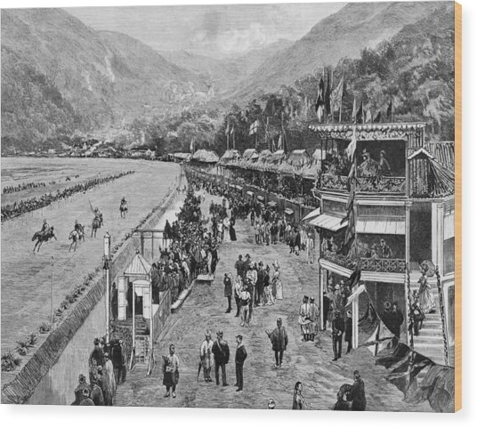 Hong Kong Derby Wood Print by Hulton Archive
