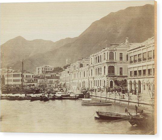 Hong Kong Harbour Wood Print by John Thomson